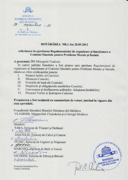 114 570x800 şedinţa Sinodului Bisericii Ortodoxe din Moldova 28 septembrie 2012