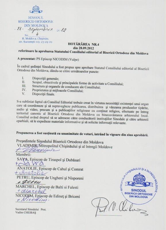 7 578x800 şedinţa Sinodului Bisericii Ortodoxe din Moldova 28 septembrie 2012