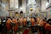 ÎPS Mitropolit Vladimir a participat la slujba prilejuită de praznicul Sf. Arhangheli Mihail și Gavriil, oficiată de către Preafericitul Patriarh Kiril