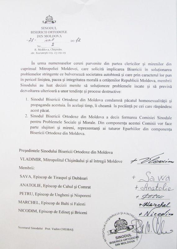 722569163 Deciziile Sinodului Bisericii Ortodoxe din Moldova