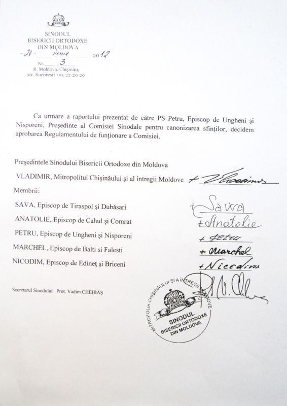 1013617544 Deciziile Sinodului Bisericii Ortodoxe din Moldova